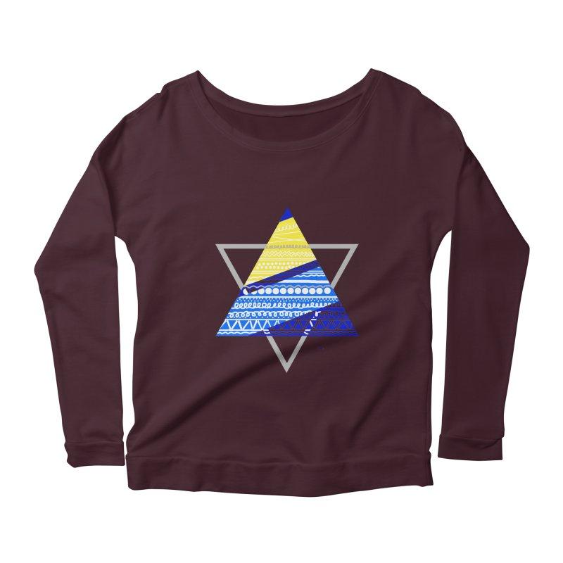 Pyramid gray Women's Scoop Neck Longsleeve T-Shirt by DERG's Artist Shop