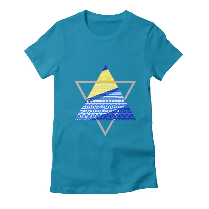 Pyramid gray Women's Fitted T-Shirt by DERG's Artist Shop