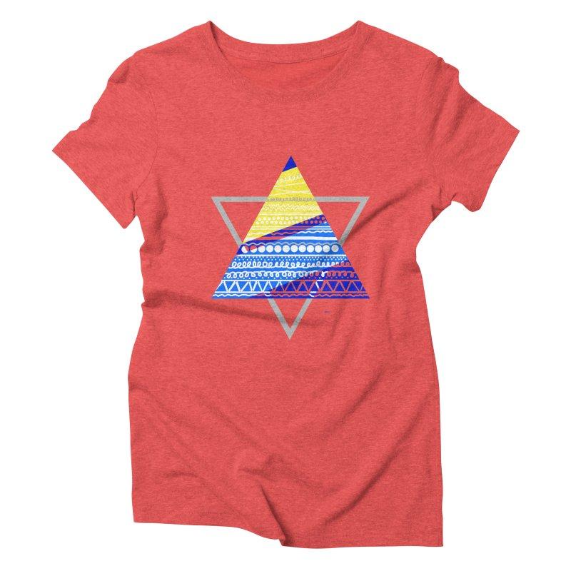 Pyramid gray Women's Triblend T-Shirt by DERG's Artist Shop