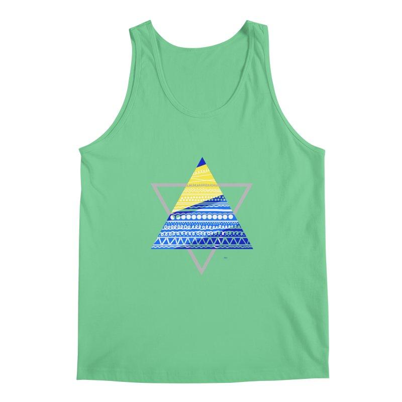 Pyramid gray Men's Tank by DERG's Artist Shop