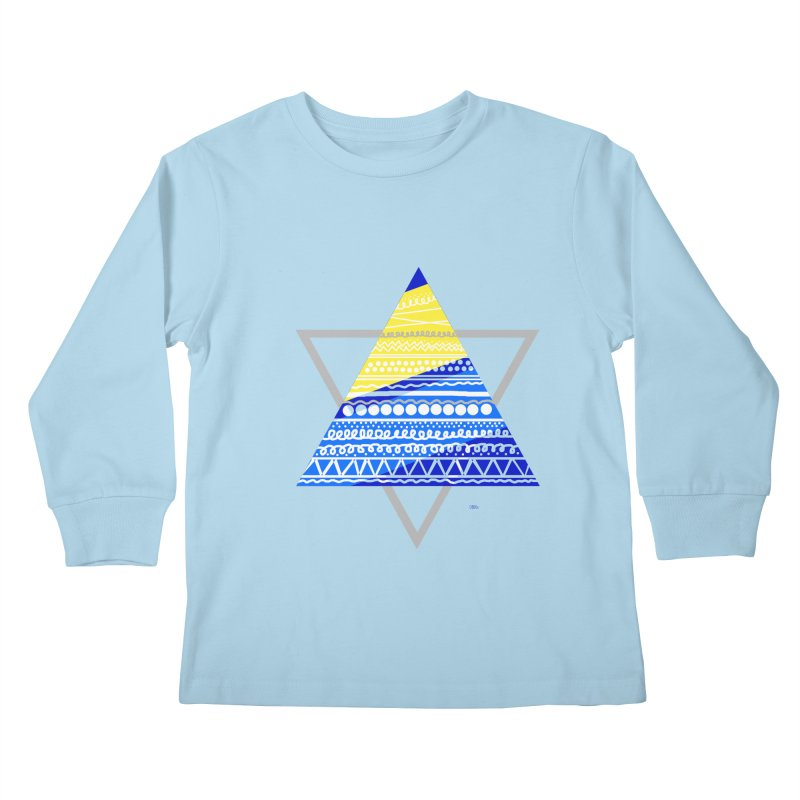 Pyramid gray Kids Longsleeve T-Shirt by DERG's Artist Shop