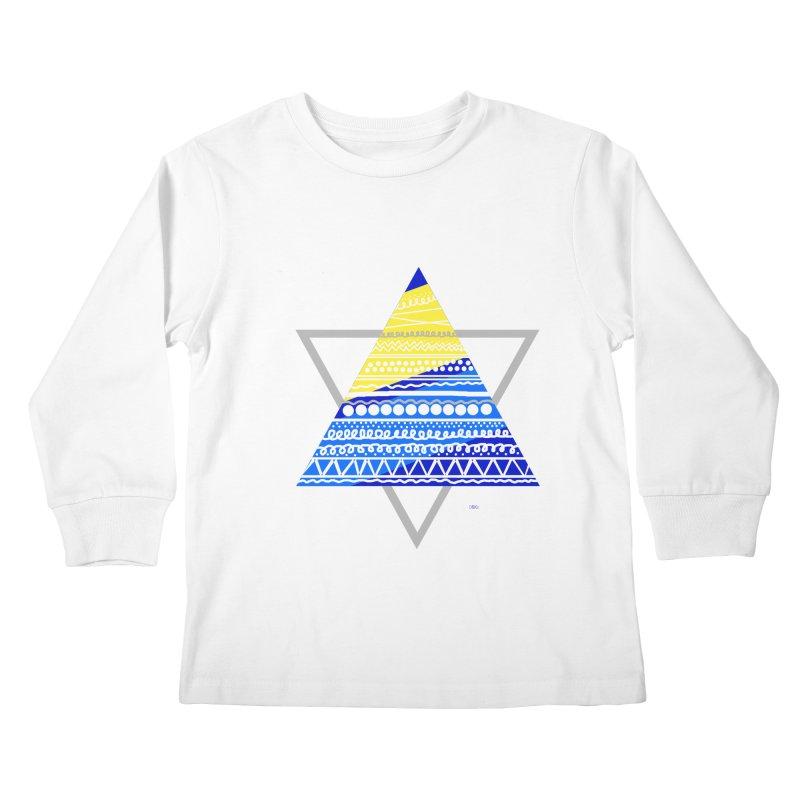 Pyramid gray Kids Longsleeve T-Shirt by DERG's Artist Shop