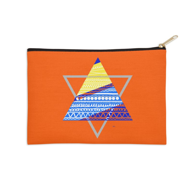 Pyramid gray Accessories Zip Pouch by DERG's Artist Shop