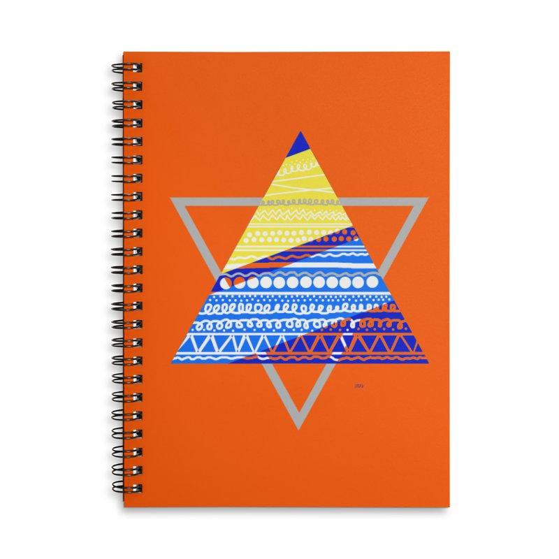 Pyramid gray Accessories Notebook by DERG's Artist Shop