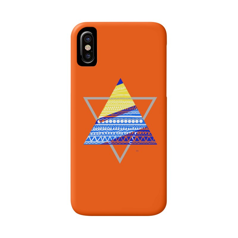 Pyramid gray Accessories Phone Case by DERG's Artist Shop