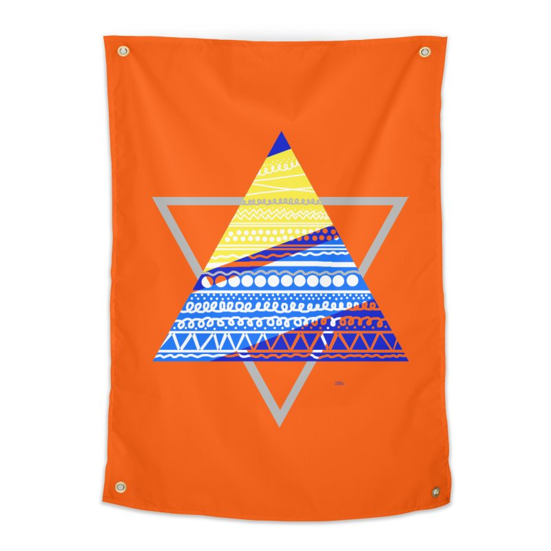 Pyramid gray Home Tapestry by DERG's Artist Shop