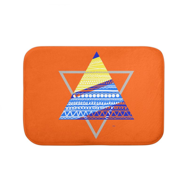 Pyramid gray Home Bath Mat by DERG's Artist Shop