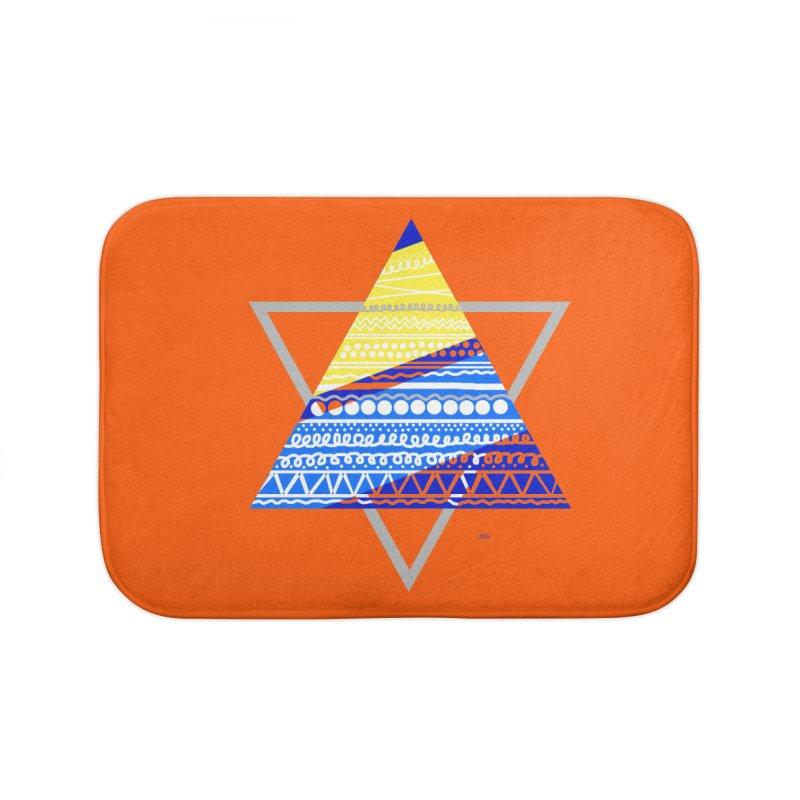 Pyramid gray Home Bath Mat by DERG's Artist Shop