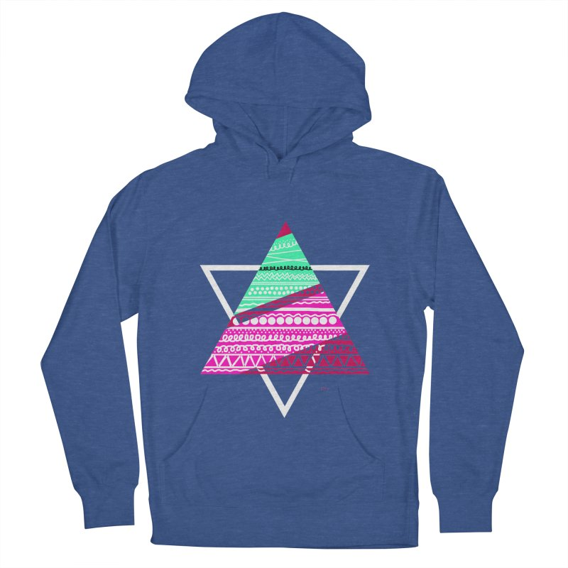 Pyramid pink Women's French Terry Pullover Hoody by DERG's Artist Shop