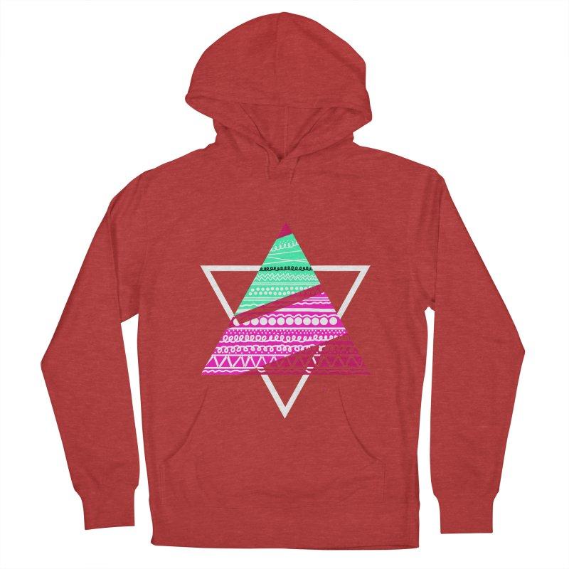 Pyramid pink Women's Pullover Hoody by DERG's Artist Shop