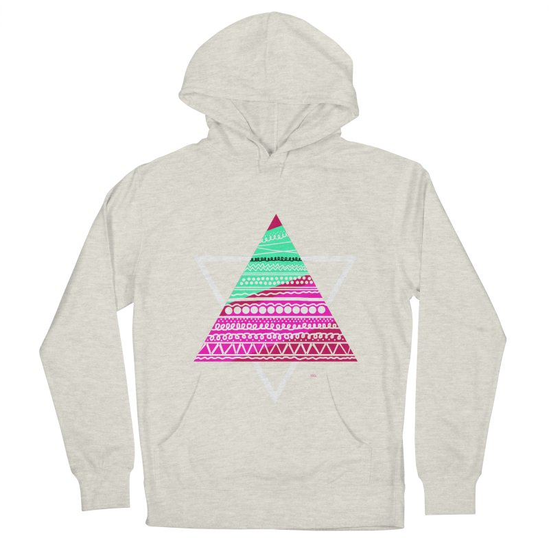 Pyramid pink Women's Pullover Hoody by DERG's Artist Shop