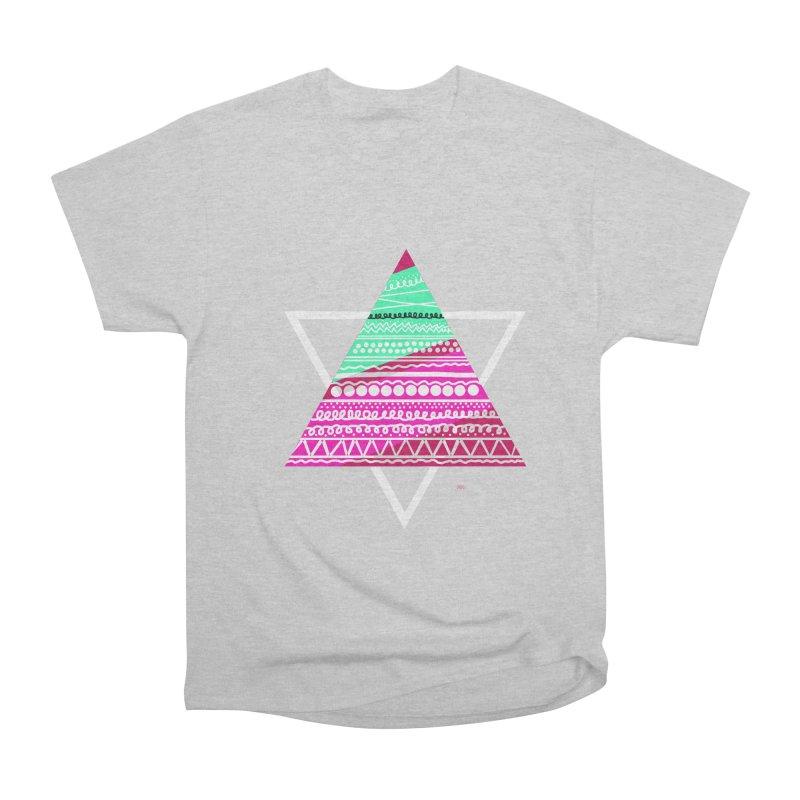 Pyramid pink Women's Heavyweight Unisex T-Shirt by DERG's Artist Shop