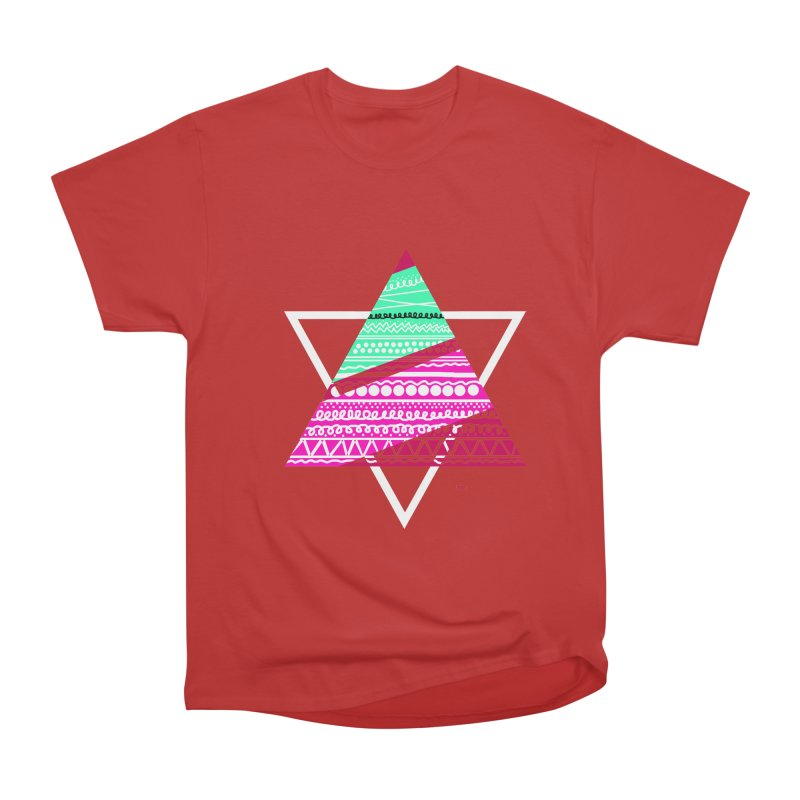 Pyramid pink Men's Classic T-Shirt by DERG's Artist Shop
