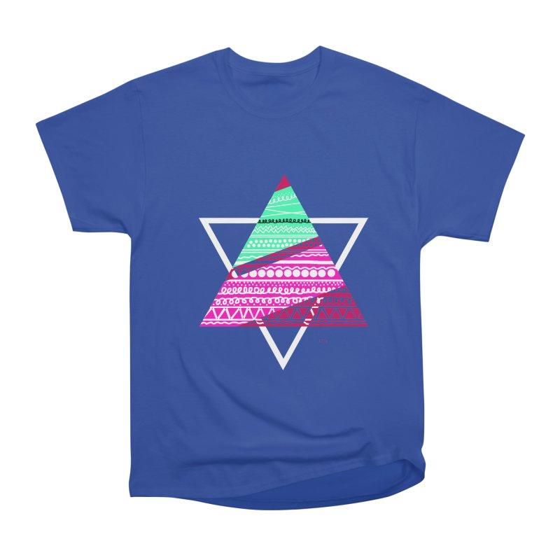 Pyramid pink Men's Heavyweight T-Shirt by DERG's Artist Shop