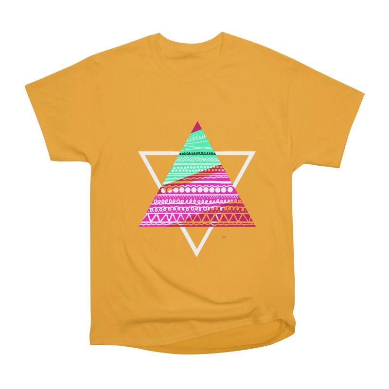 Pyramid pink Women's Classic Unisex T-Shirt by DERG's Artist Shop