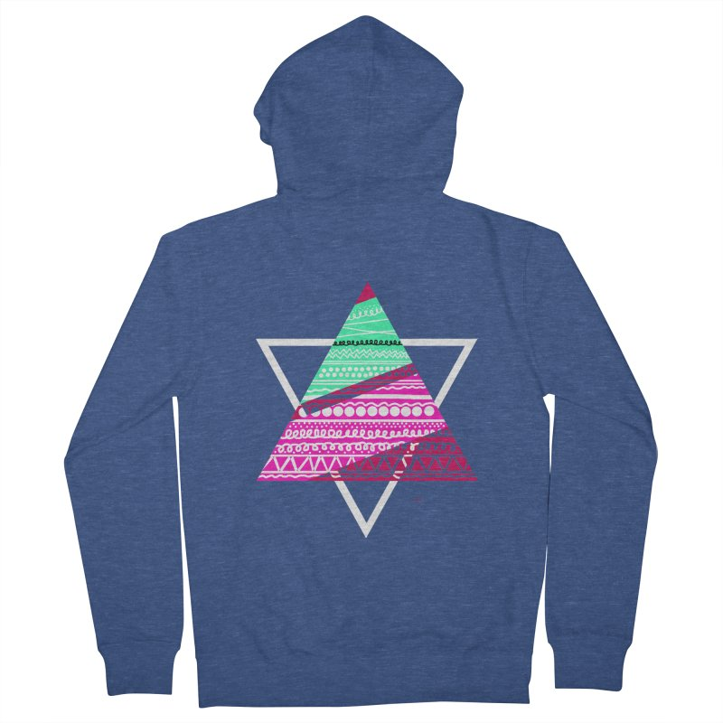 Pyramid pink Women's Zip-Up Hoody by DERG's Artist Shop