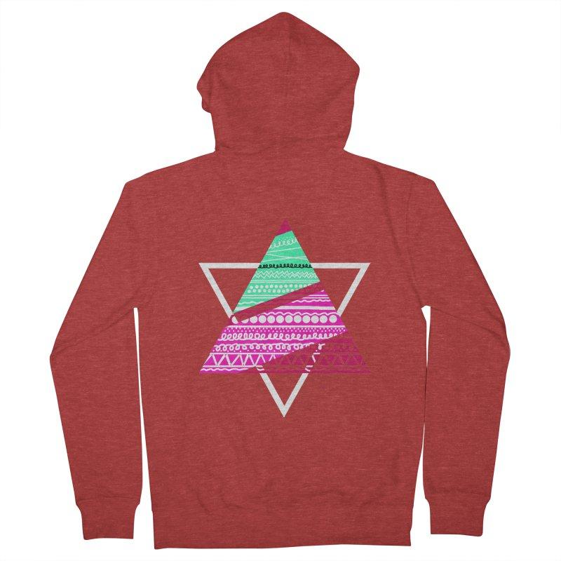 Pyramid pink Women's Zip-Up Hoody by DERG's Artist Shop