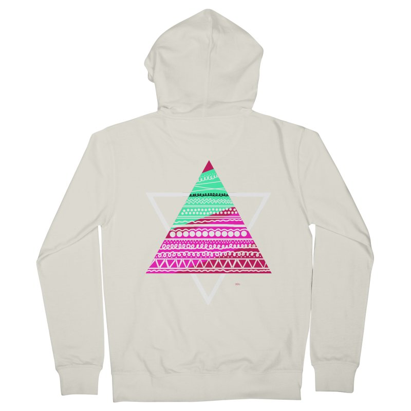 Pyramid pink Men's Zip-Up Hoody by DERG's Artist Shop