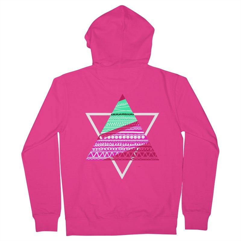 Pyramid pink Men's Zip-Up Hoody by DERG's Artist Shop