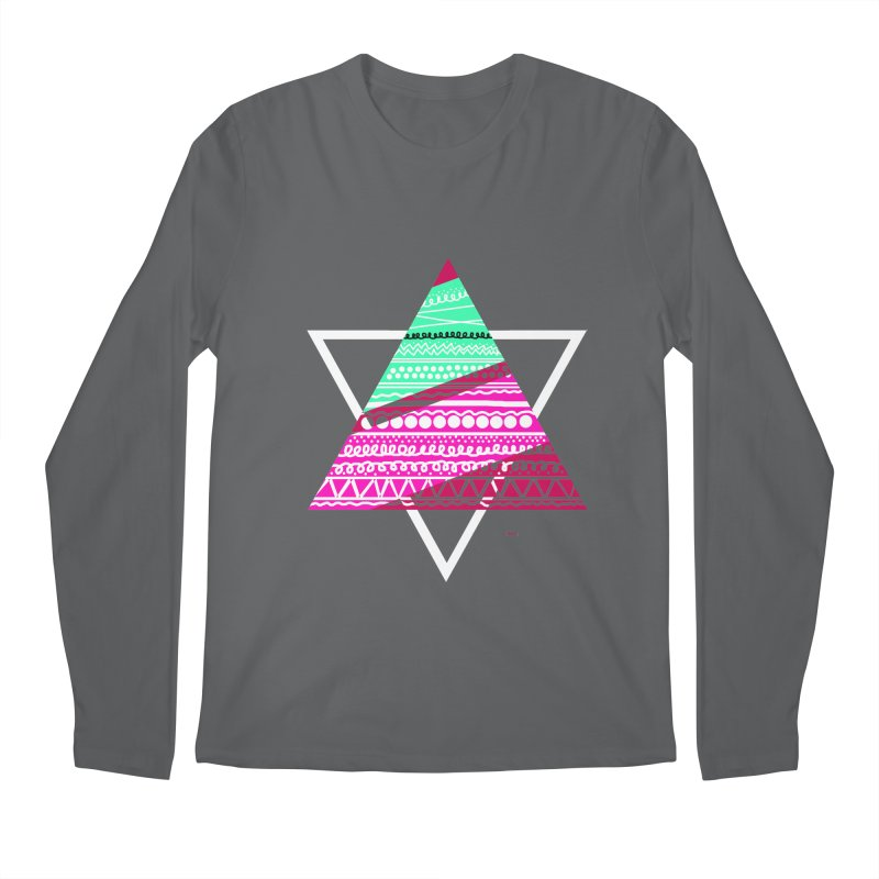 Pyramid pink Men's Longsleeve T-Shirt by DERG's Artist Shop