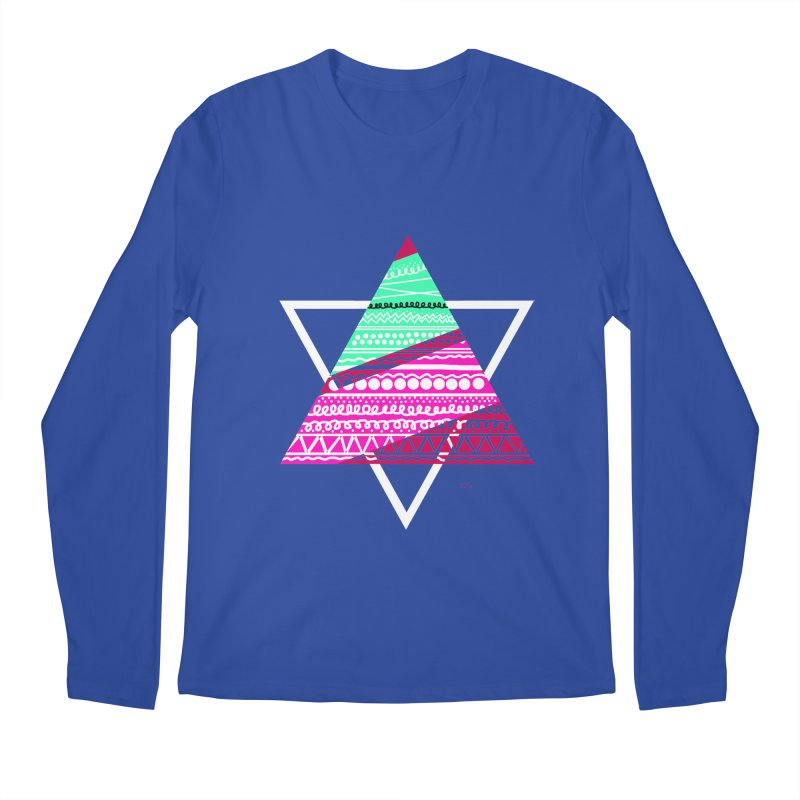 Pyramid pink Men's Regular Longsleeve T-Shirt by DERG's Artist Shop