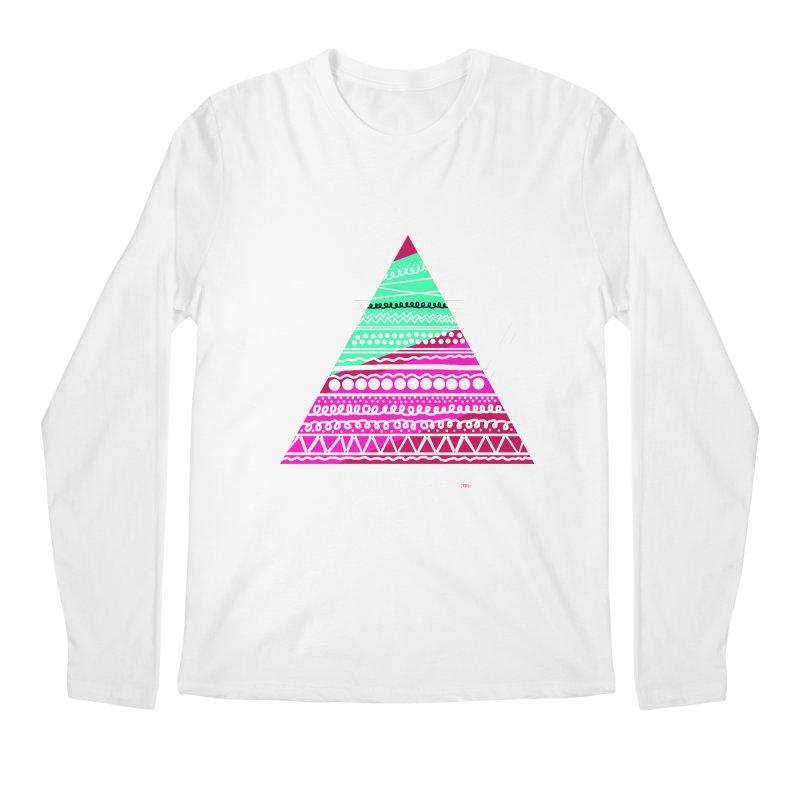 Pyramid pink Men's Regular Longsleeve T-Shirt by DERG's Artist Shop