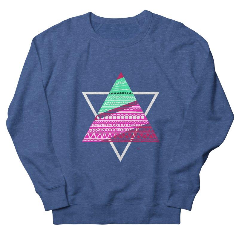 Pyramid pink Men's French Terry Sweatshirt by DERG's Artist Shop