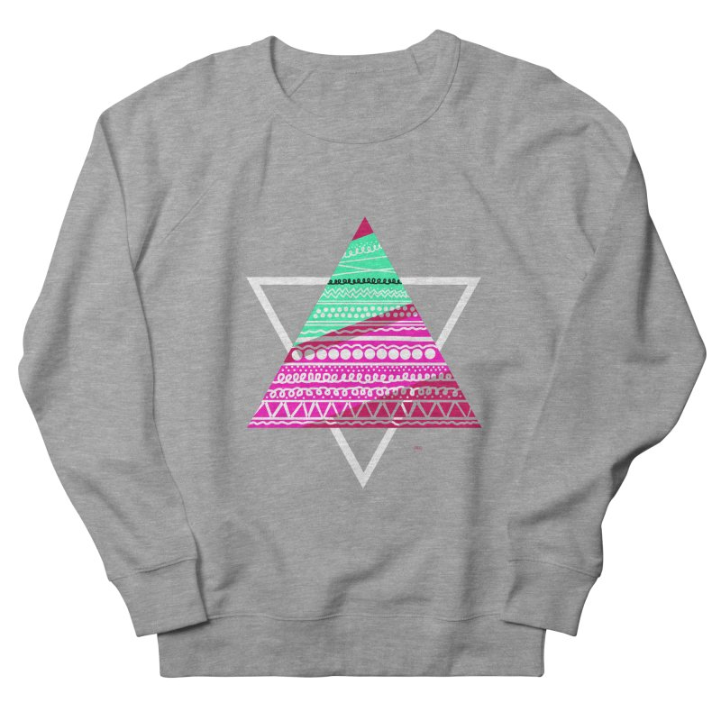 Pyramid pink Men's Sweatshirt by DERG's Artist Shop