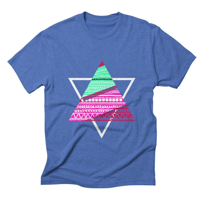 Pyramid pink Men's Triblend T-Shirt by DERG's Artist Shop