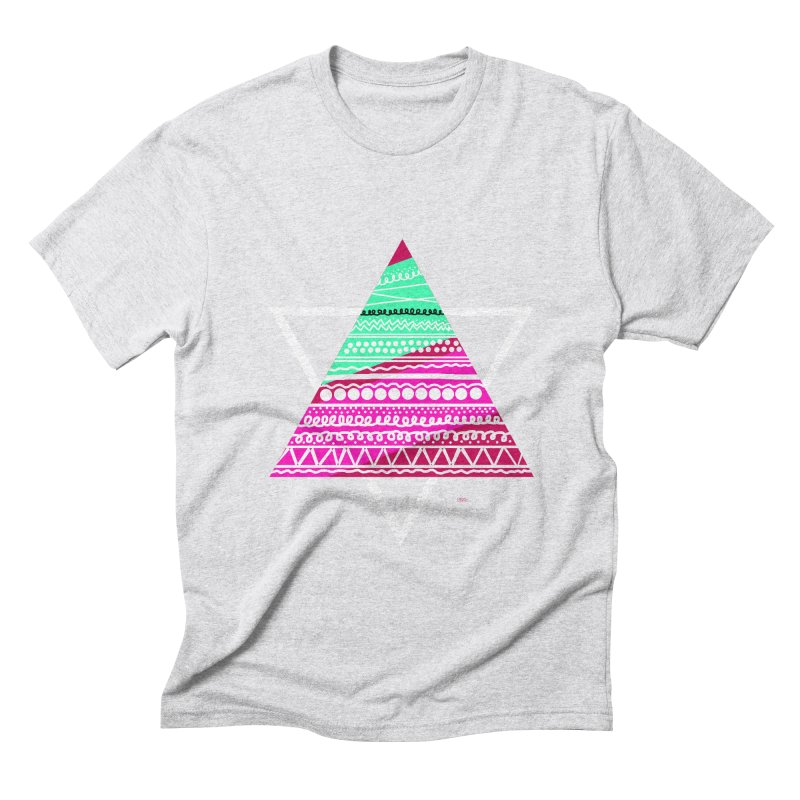Pyramid pink Men's Triblend T-shirt by DERG's Artist Shop