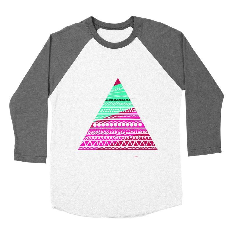 Pyramid pink Women's Baseball Triblend T-Shirt by DERG's Artist Shop