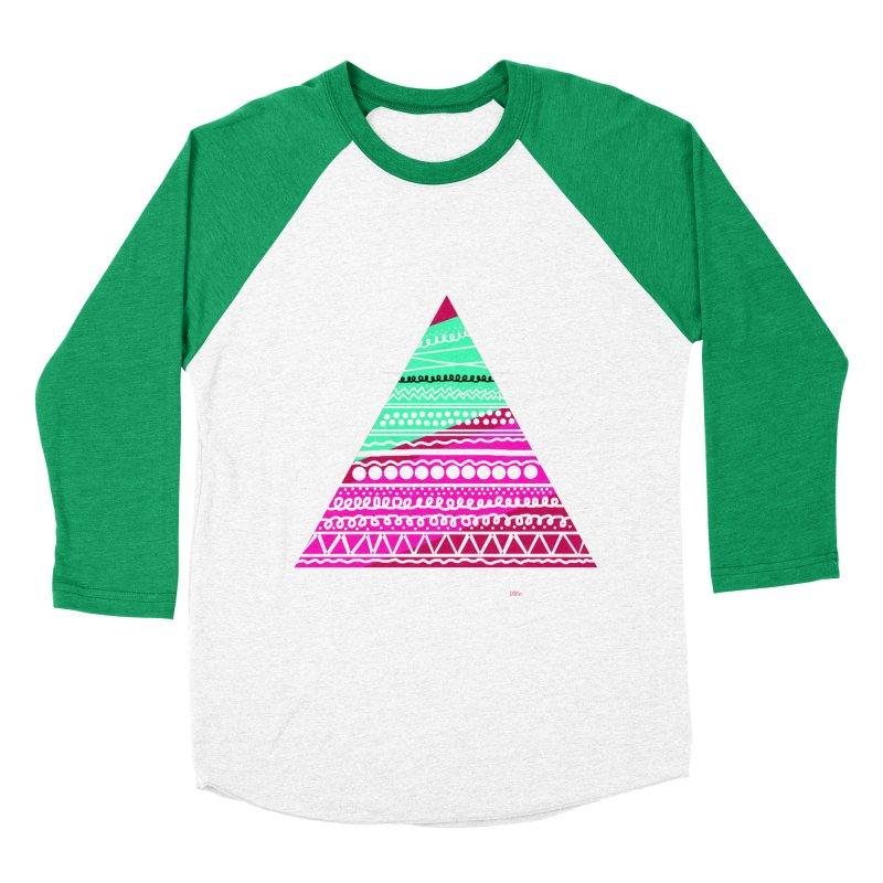 Pyramid pink Women's Baseball Triblend Longsleeve T-Shirt by DERG's Artist Shop
