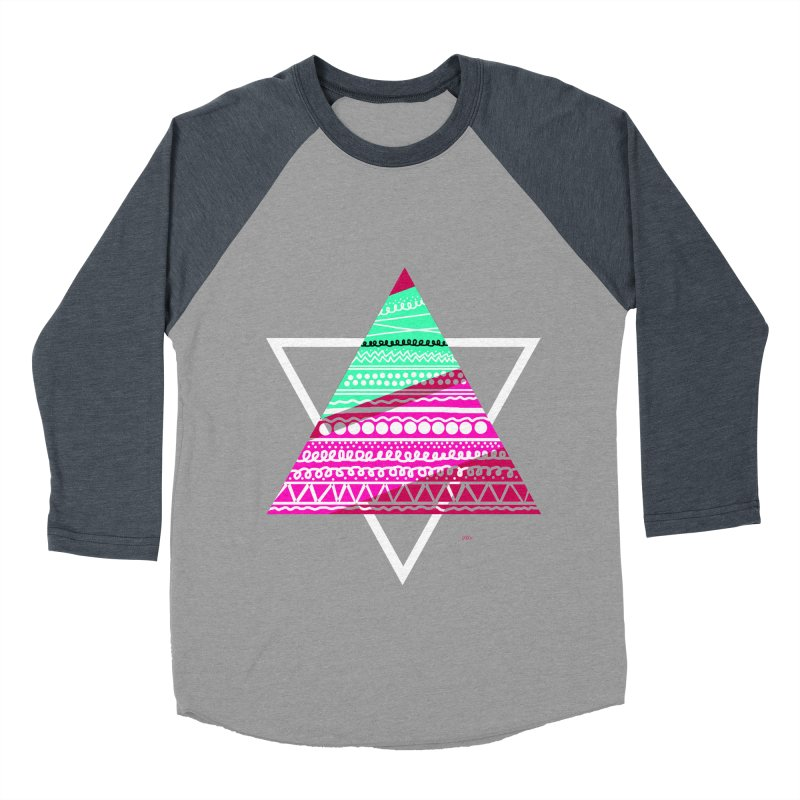 Pyramid pink Men's Baseball Triblend T-Shirt by DERG's Artist Shop