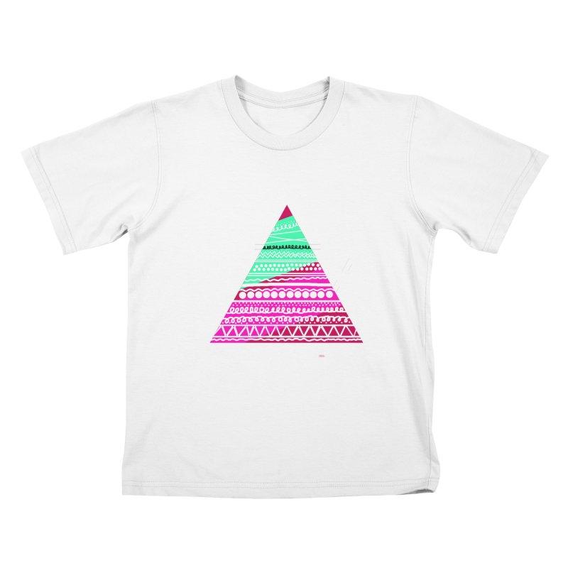 Pyramid pink Kids T-shirt by DERG's Artist Shop