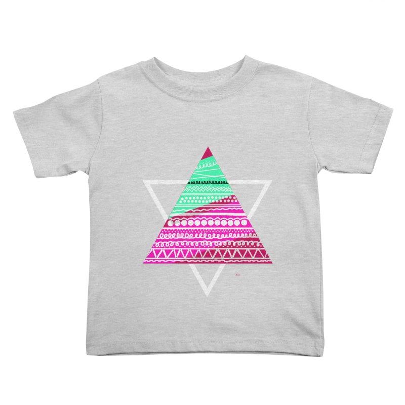 Pyramid pink Kids Toddler T-Shirt by DERG's Artist Shop