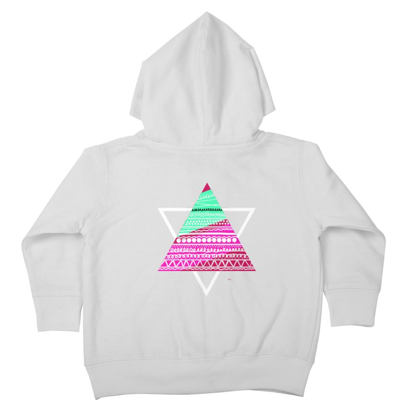 Pyramid pink Kids Toddler Zip-Up Hoody by DERG's Artist Shop