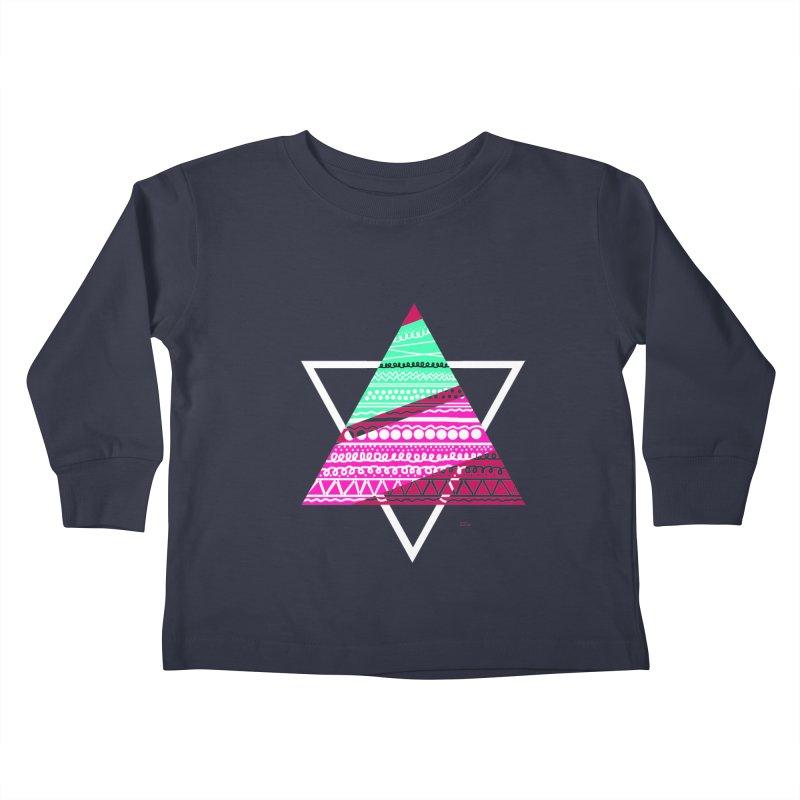 Pyramid pink Kids Toddler Longsleeve T-Shirt by DERG's Artist Shop
