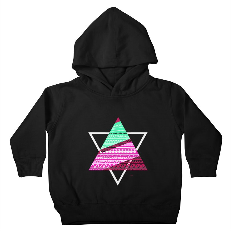 Pyramid pink Kids Toddler Pullover Hoody by DERG's Artist Shop