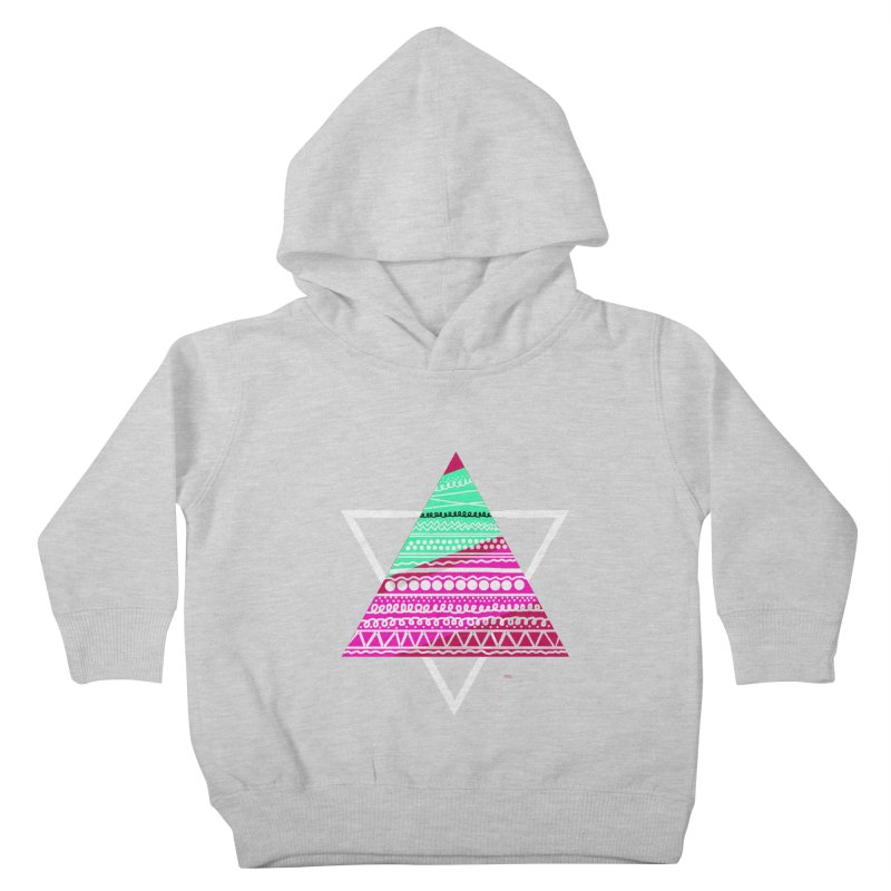 Pyramid pink Kids Toddler Pullover Hoody by DERG's Artist Shop