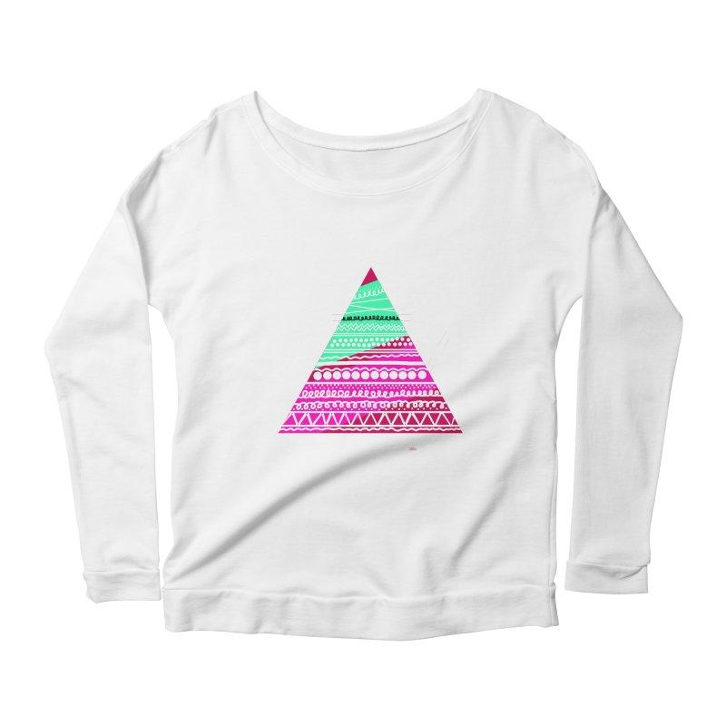 Pyramid pink Women's Scoop Neck Longsleeve T-Shirt by DERG's Artist Shop