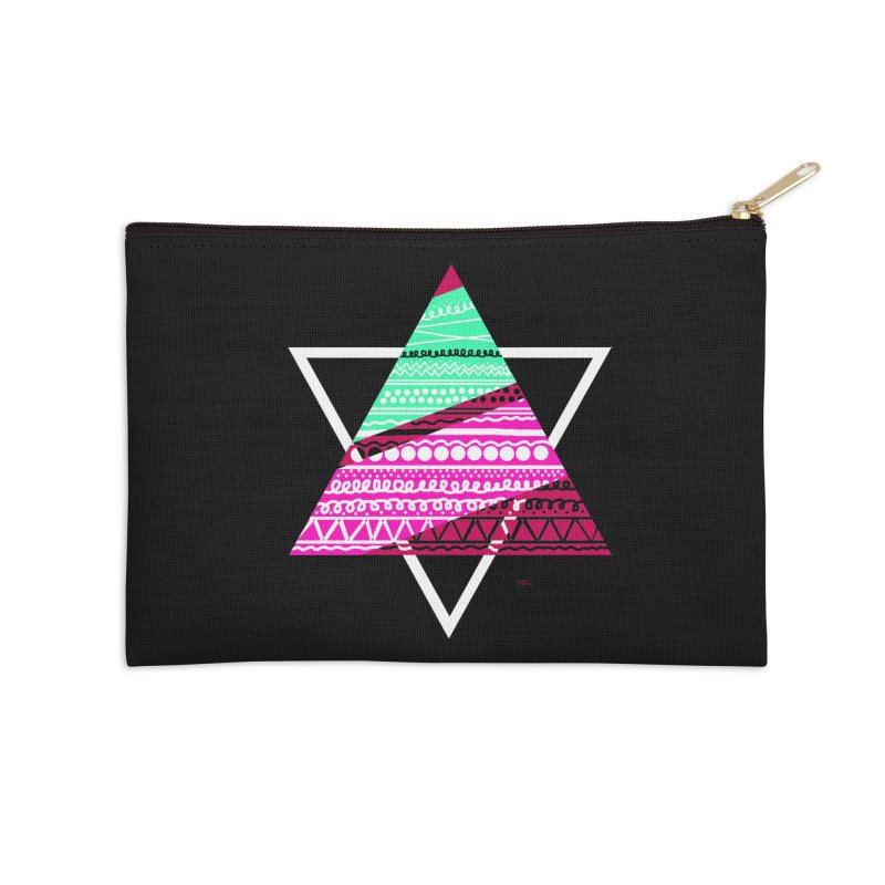Pyramid pink Accessories Zip Pouch by DERG's Artist Shop