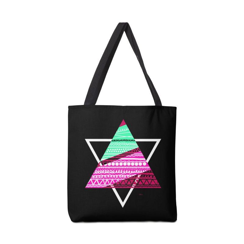 Pyramid pink Accessories Bag by DERG's Artist Shop