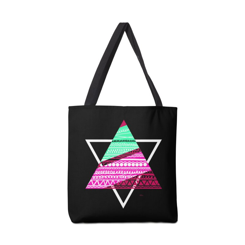 Pyramid pink Accessories Bag by DERG's Artist Shop