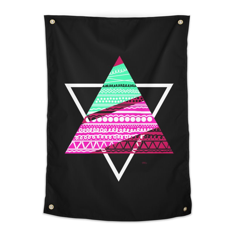 Pyramid pink Home Tapestry by DERG's Artist Shop
