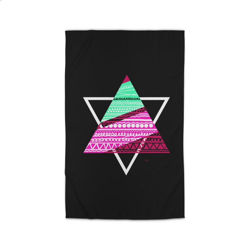 Pyramid pink Home Rug by DERG's Artist Shop