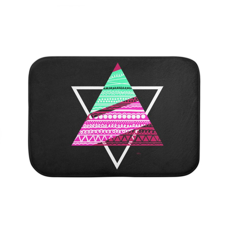 Pyramid pink Home Bath Mat by DERG's Artist Shop