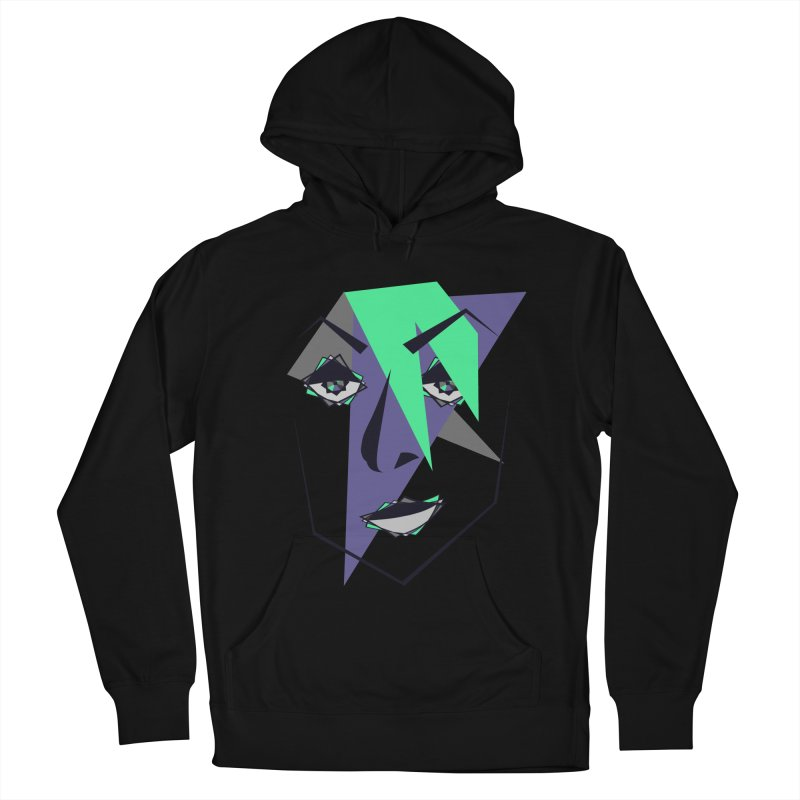 Face me Women's French Terry Pullover Hoody by DERG's Artist Shop