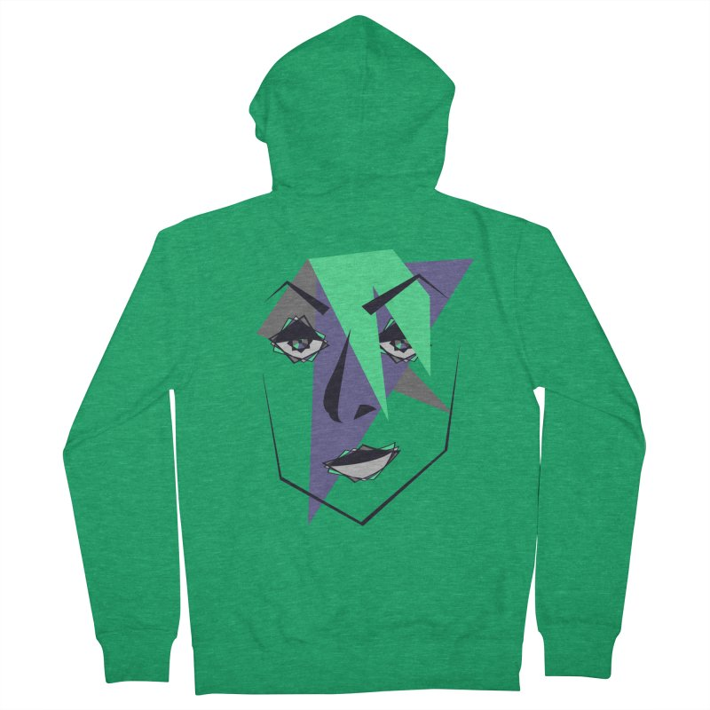 Face me Men's Zip-Up Hoody by DERG's Artist Shop