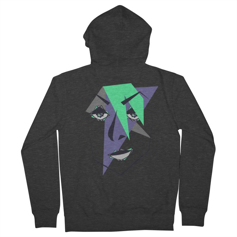 Face me Men's French Terry Zip-Up Hoody by DERG's Artist Shop