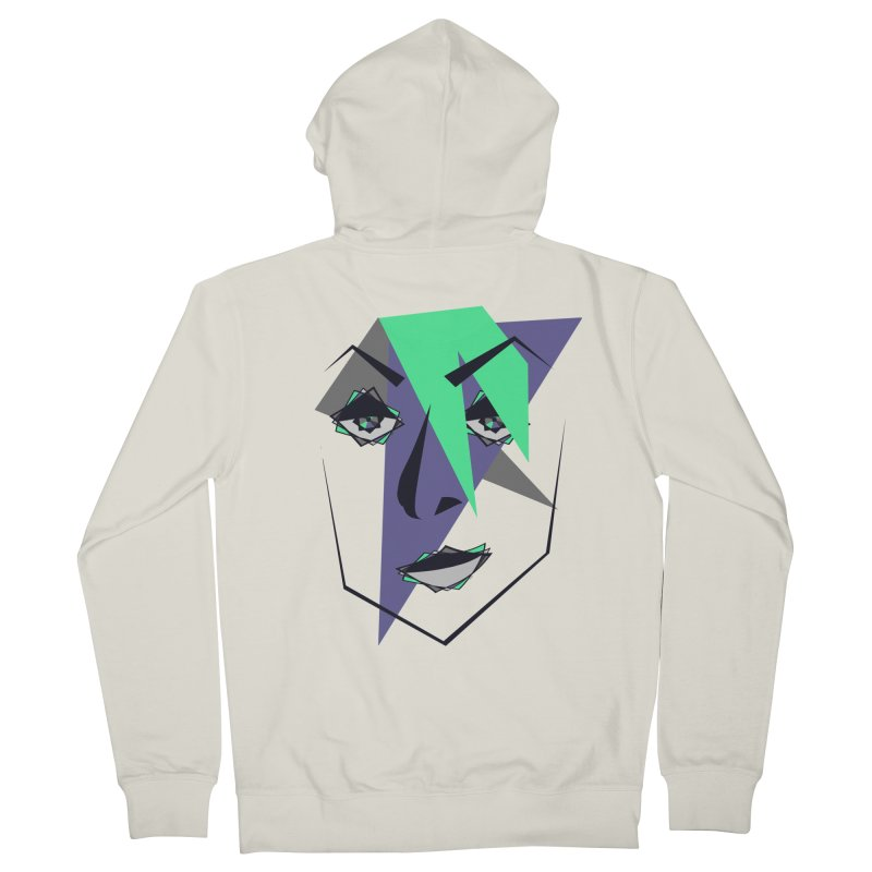 Face me Men's Zip-Up Hoody by DERG's Artist Shop